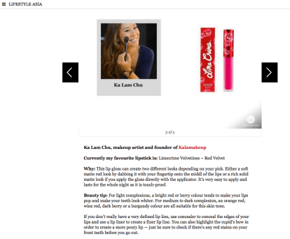 Lifestyle Asia on Red Lipstick