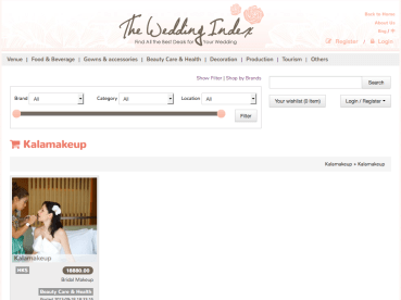 Wedding Index on Kalamakeup
