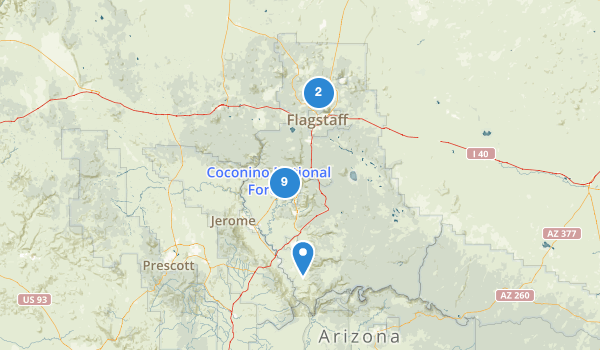 Coconino National Forest Roads Map
