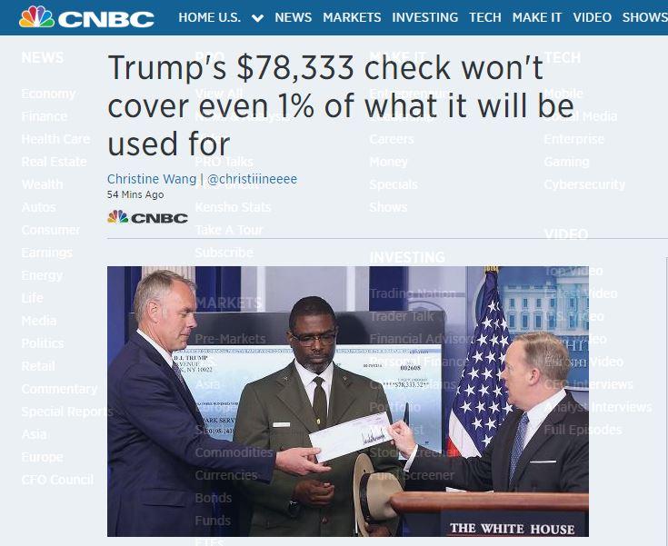 Trump paycheck