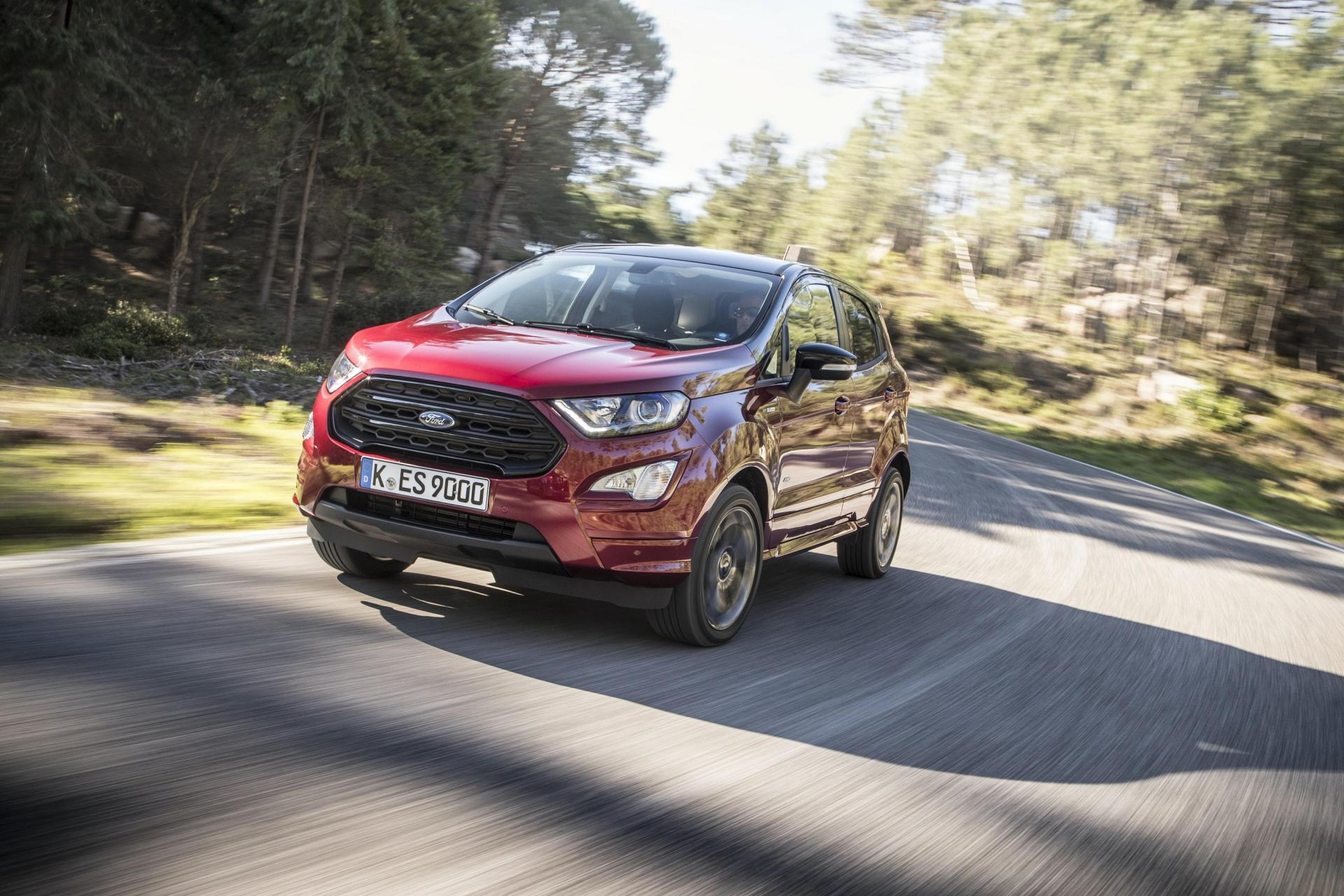 Plastic bottles are recycled and used for the EcoSport's carpets.