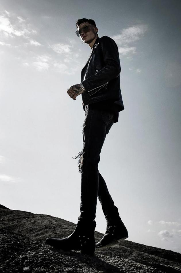 Designer: Blakkript. Model: Jake Busuttil, Agency: Models M. Photo: Kris Micallef