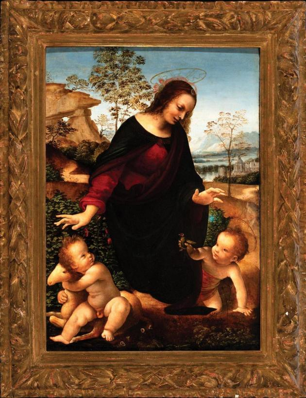 The Madonna and Child with the infant St John the Baptist, attributed to Leonardo da Vinci and circle