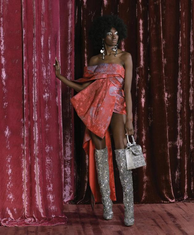 Designer: Charles & Ron. Model: Charlene Yemmah. Agency: Models M. Photo: Carlton Agius