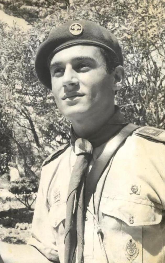 The author wearing the scout uniform. Photo: Joe Zammit Ciantar