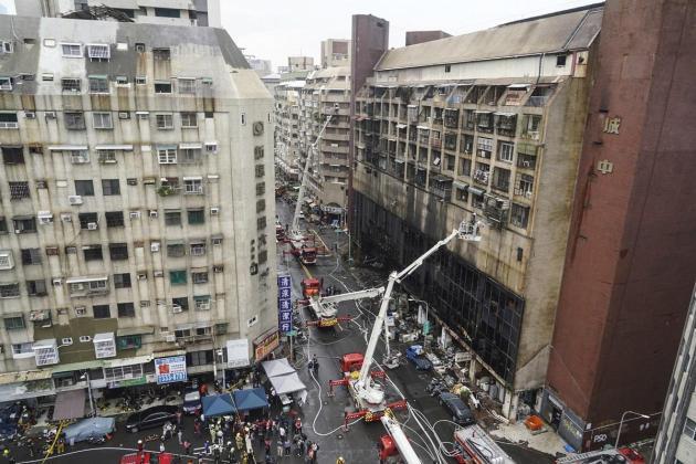 Rescue operations. Photo: STR, CNA, AFP