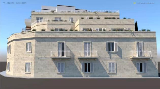 A render of the side of the project on the Urban Conservation Area.