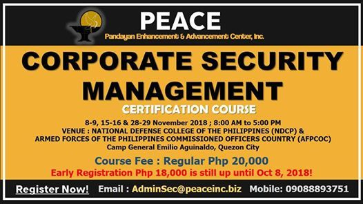 Corporate Security Management Certification Course At