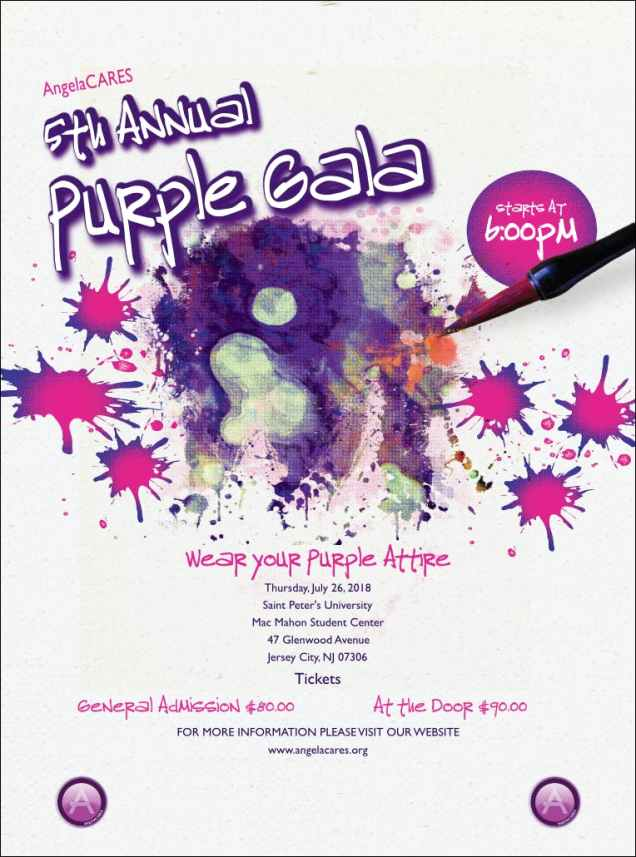 Image result for AngelaCARES 5th Annual Purple Gala