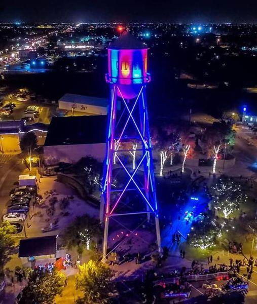 gilbert water tower lighting wave of