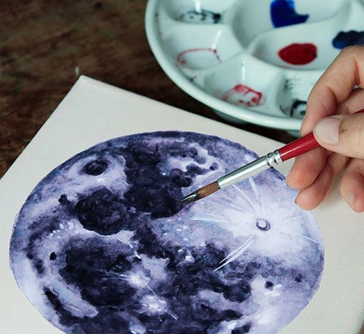 Galaxy Easter Eggs Chang E Painting Paintevents Ch