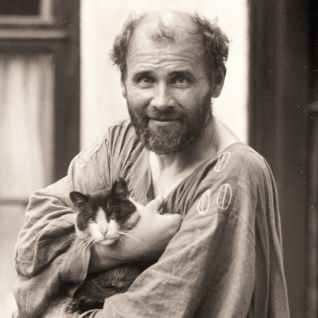 Klimt con gatto