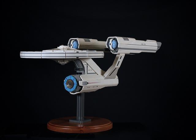 Awesome Star Trek Ncc 1701 Enterprise Model Made Of Lego