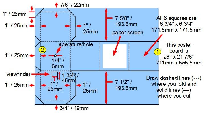 pinhole camera from a single sheet