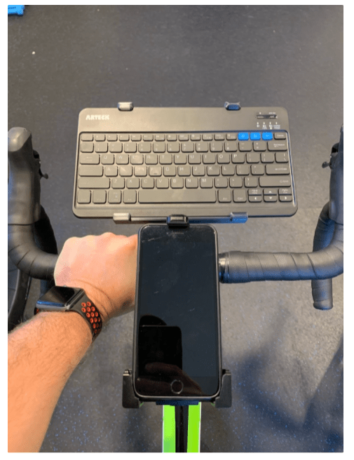 Keyboard Mount fits to Wahoo bike CPU mount Great for Zwifting by Maverick555 Thingiverse