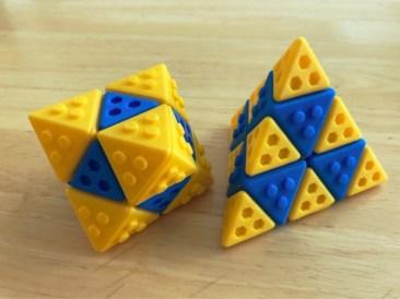 Octahedron and Tetrahedron Lego by DaveMakesStuff Thingiverse