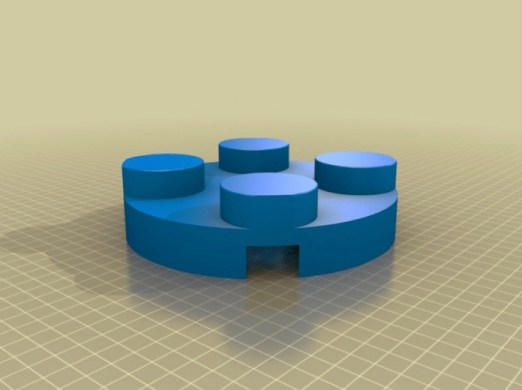 Base for Large Brick Flower by JPMakesStuff Thingiverse