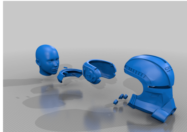 Echo Helmet Bad Batch Components MKII by Jace1969 Thingiverse
