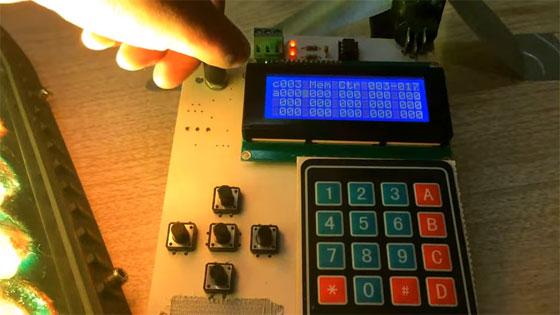 Controlador DMX-512 portátil basado en Arduino