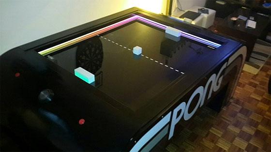 Mesa PONG casera para tu salón de casa con Arduino