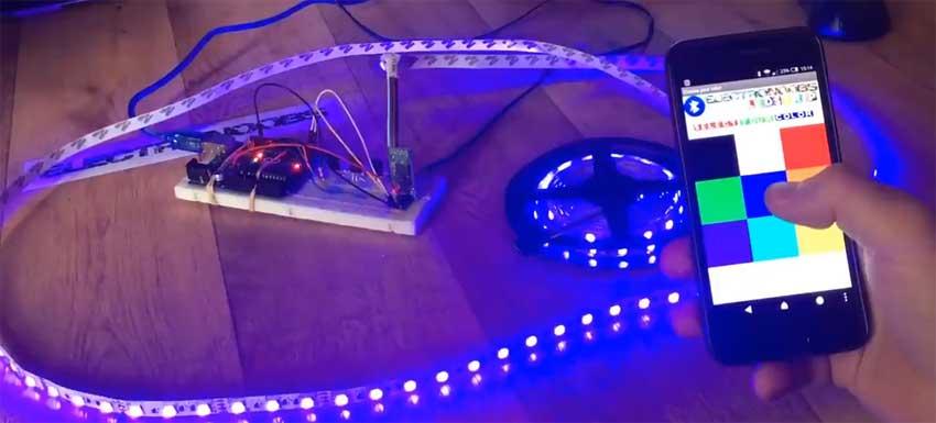 Cómo controlar una tira de LED RGB con el móvil usando Bluetooth y Arduino