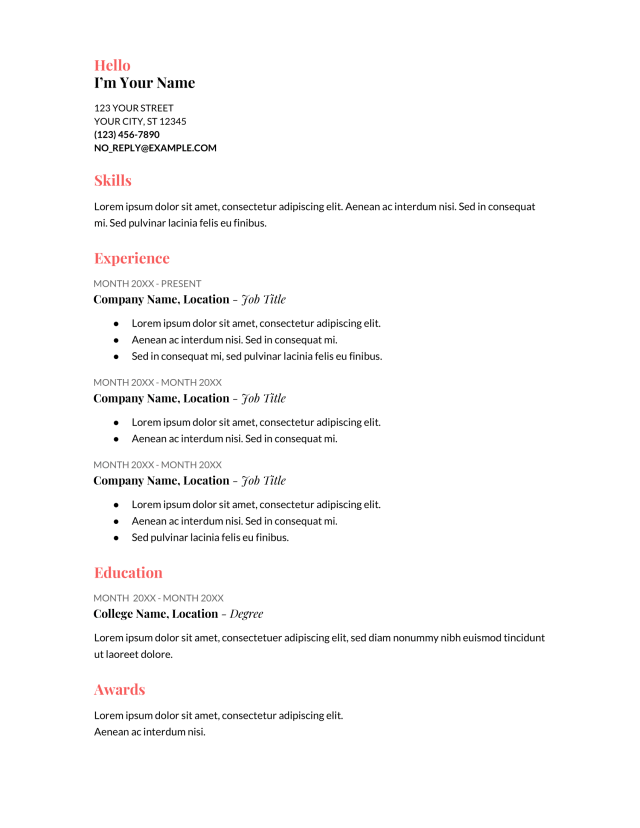 20+ Google Docs Resume Templates [Download Now]