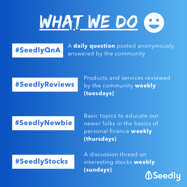 Seedly What we do Community