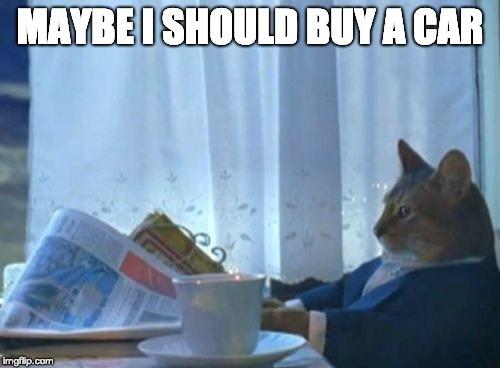 Maybe I Should Buy A Car