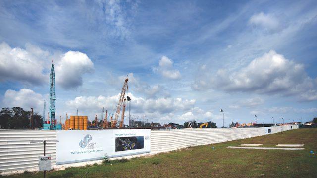 Construction Site At Punggol District