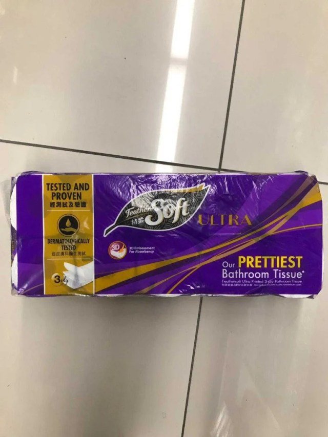 FeatherSoft Toilet Paper On The Floor