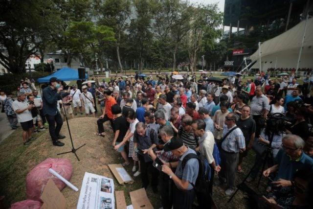 Hyflux Protest Hong Lim Park