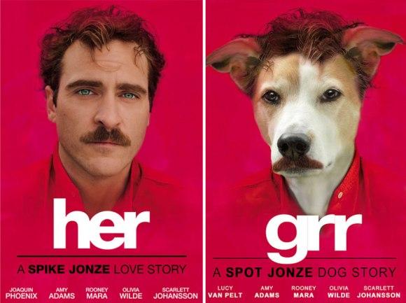 Parodi poster film anjing boredpanda