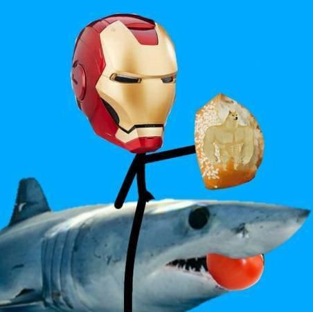 meme ikan hiu makan tomat Berbagai Sumber