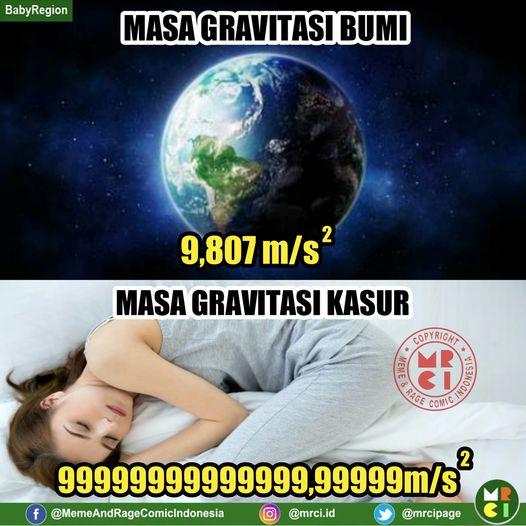 meme lucu aku vs kasur © Berbagai Sumber