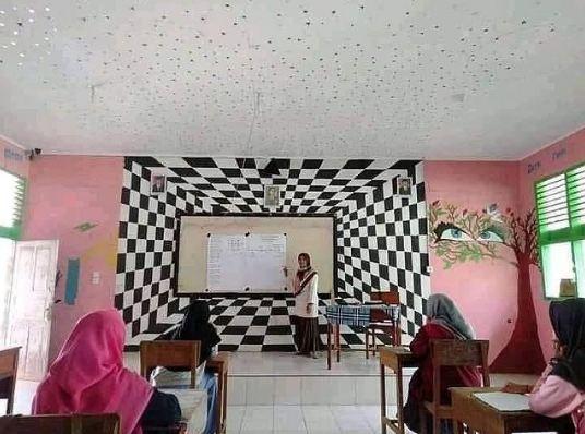 penampakan di kelas lucu © 2021 1cak.com