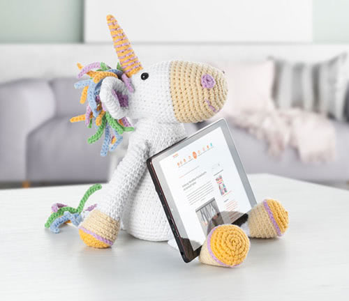 coussin support licorne pour