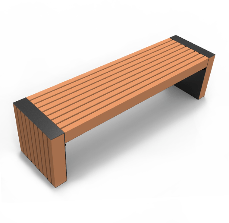 Recycled Plastic Modern Street Bench Cab 827 Canaan
