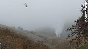 A helicopter crashed on a hillside in Calabasas, California.