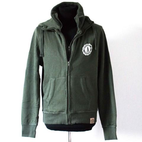 Fairtrade Unisex Double Zip Jacket Khaki