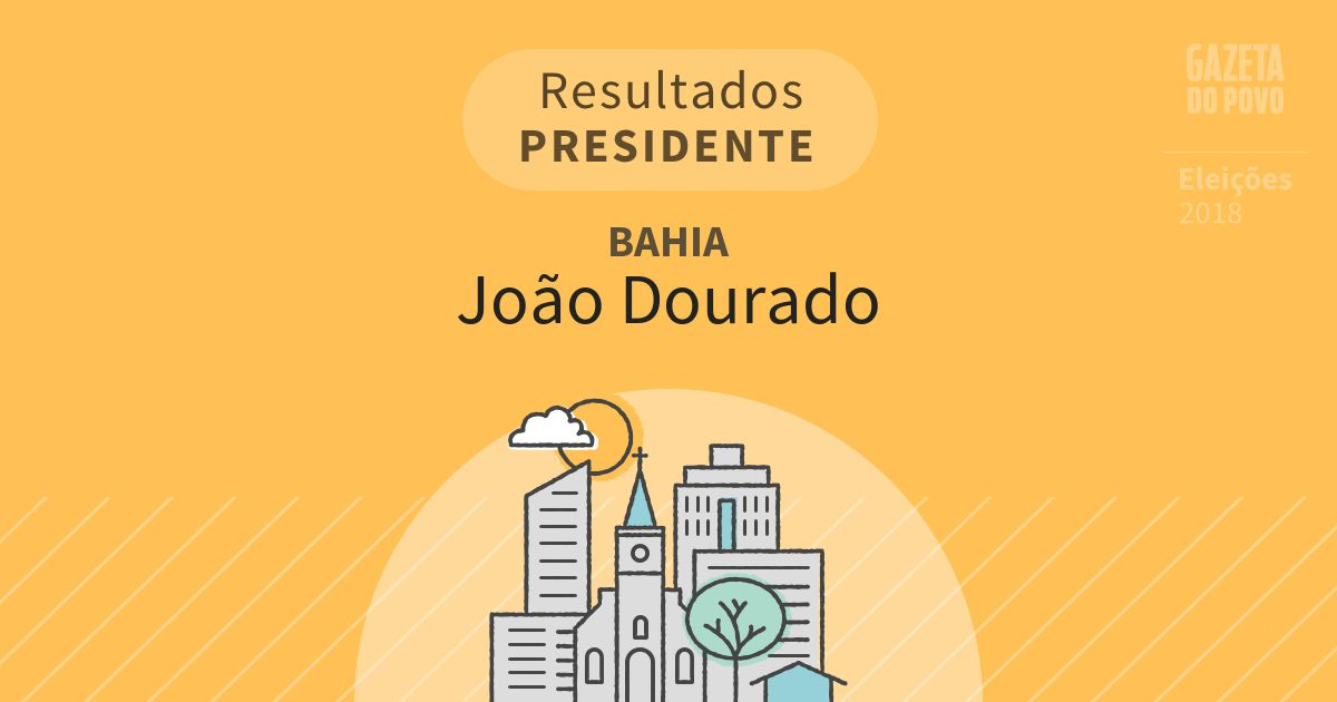 Resultados para Presidente na Bahia em João Dourado (BA)