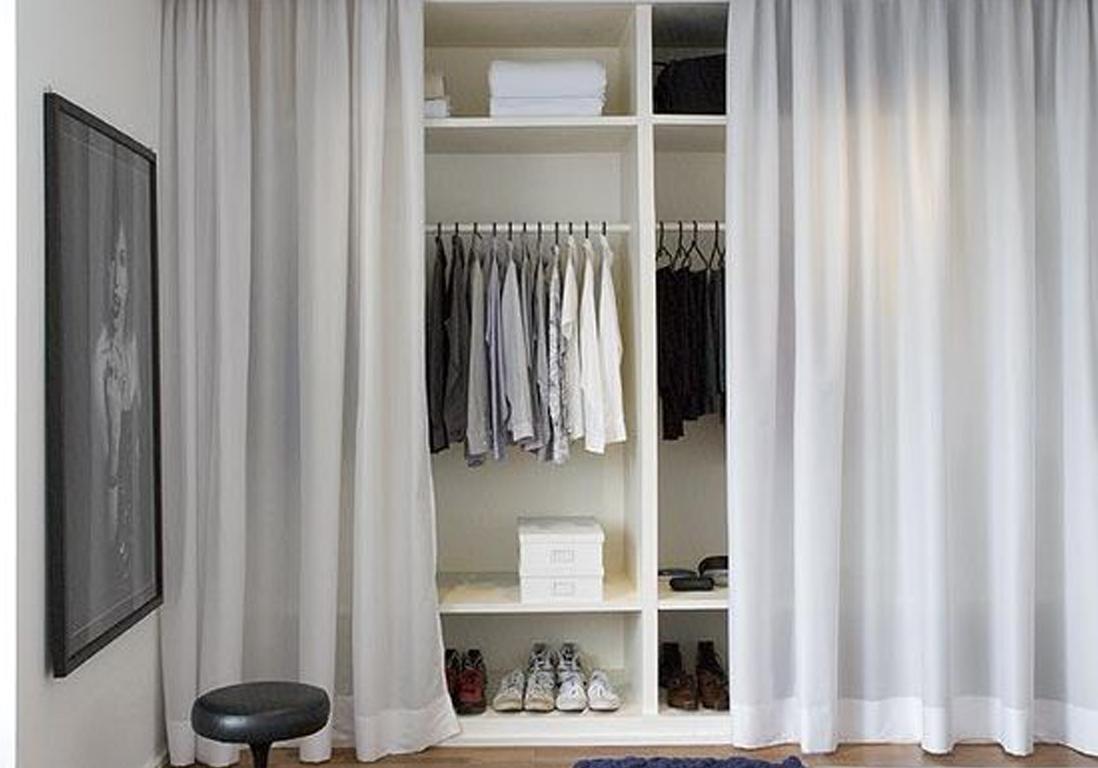 simples rideaux pour cacher un dressing