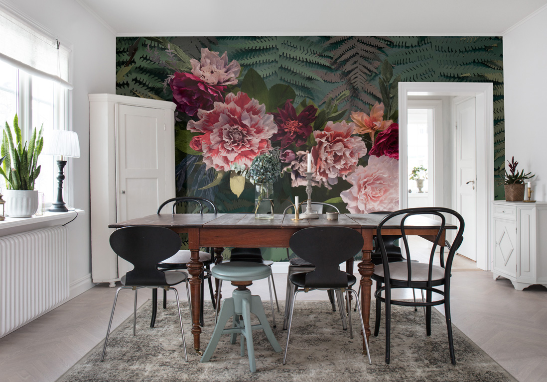Papier Peint Fleuri 25 Modeles Pour Un Interieur So Bucolique Elle Decoration
