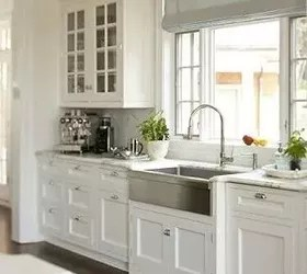 farmhouse sink stainless steel or cast