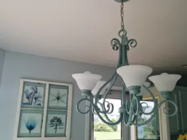 Ceiling Chandelier Redo Home Decor Kitchen Design Lighting Painting Repurposing Upcycling