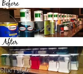 basement paint storage & organization | hometalk