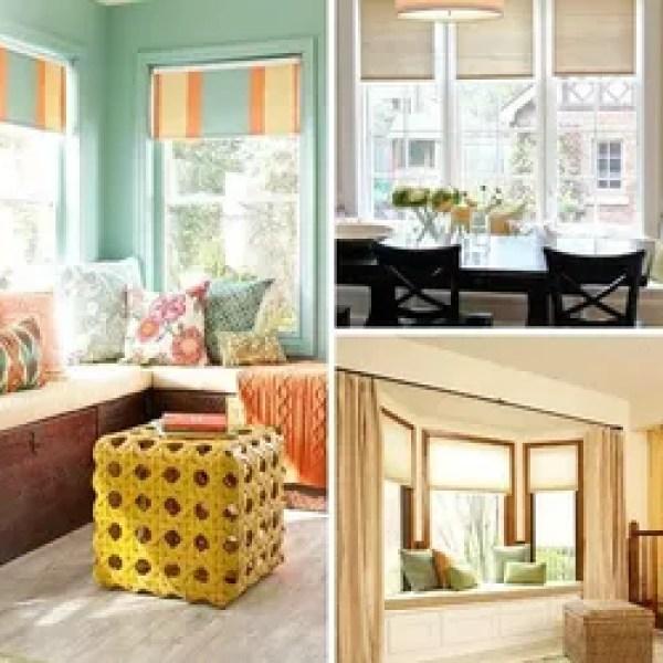 Windows Seats Whimsical Home Decor Window Treatments Woven Wood Shades