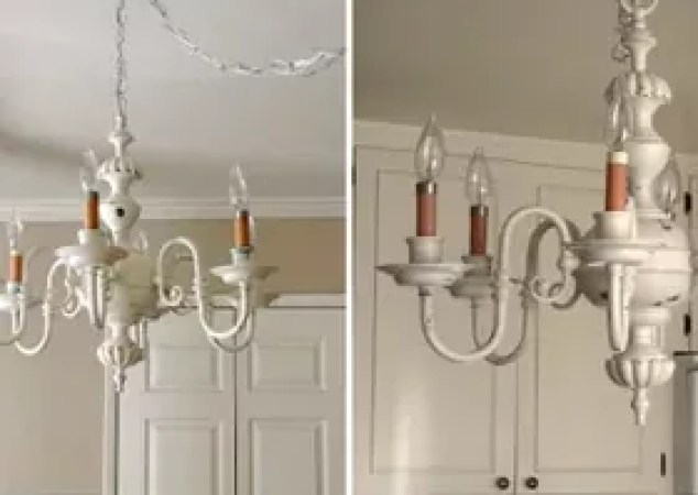Shabby Chic Chandelier Makeover Antique Diy Lighting Repurposing Upcycling
