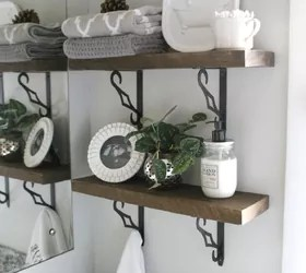 diy rustic bathroom shelves | hometalk