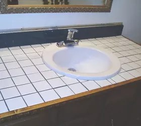 how to turn your tile counter top in to