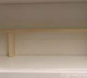 small kitchen ideas: add an extra shelf in your cubboards in minutes